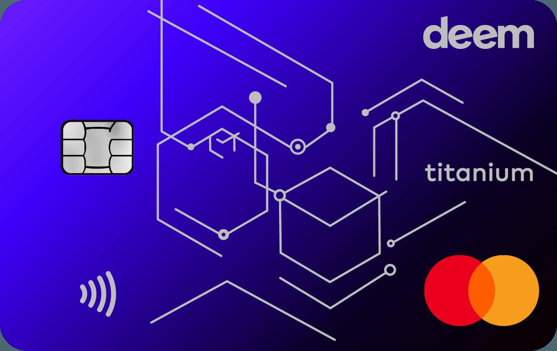 Deem finance cash up titanium credit card